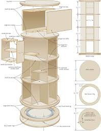 Building Solid Wood Bookshelf by Lazy Susan Bookshelf Turn In Order Rotating Bookcase U2013 Canadian