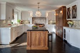 Crystal Kitchen Cabinets Chicago Walnut Kitchen Cabinets Transitional With Crystal