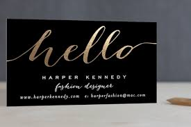chic black and gold foil pressed business cards minted