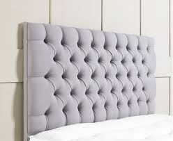Fabric King Headboard Simple Bedroom Design With Cheap Light Grey Upholstered Headboard