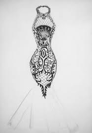 drawn wedding dress modern design pencil and in color drawn