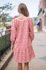 shabby chic dress mauve the mint julep boutique