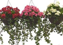 hanging flowers artificial geranium hanging basket by artificial landscapes