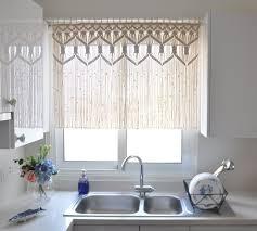 macrame curtain custom kitchen short macrame wall hanging