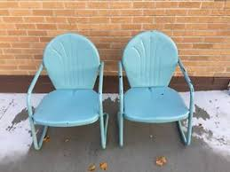 Retro Patio Furniture Metal Patio Chairs Ebay