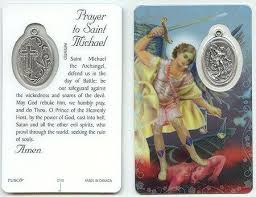 Seeking Card Cast St Michael Prayer Card Prayer Cards And Products