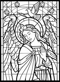 angel color pages dover stained glass coloring pages dover publications you can