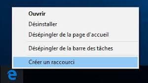 raccourci bureau gmail créer un raccourci avec microsoft edge sur bureau sous windows 10