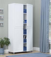 kitchen storage cabinets walmart systembuild 35 7 w x 15 4 d x 74 3 h utility storage cabinet white walmart