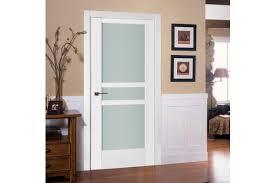 Interior Door Modern Triplex 069 White Wood Lacquered Modern Interior Door