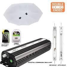 double ended grow lights 1000 watt double ended de parabolic 42 reflector kit grow light