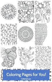 art therapy coloring book pages printable free adults mandala art