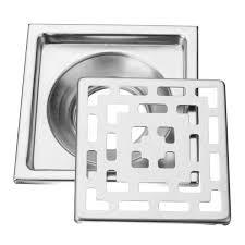 stainless steel square shape anti blocking floor drain bathroom
