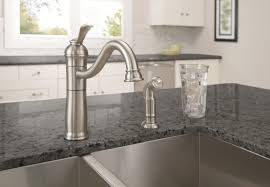 Traditional Kitchen Faucet by Bathroom Traditional Kitchen Design With Black Granite Countertop