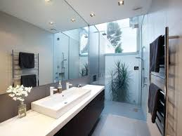 Bathroom Design With Floortoceiling Windows Using Frameless - Glass bathroom designs