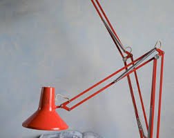 Red Desk Lamp by Vintage Desk Lamp Etsy