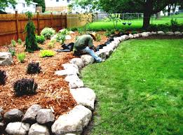 Landscaping Rock Ideas Landscaping With River Rock And Mulch Ideas Homelk Walk In