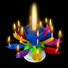 birthday candle birthday candles 3pcs musical candle lotus rotating play happy