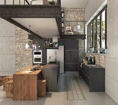 ixina cuisine 3d cuisine industrielle ixina en 3d dans un loft loft en 3d