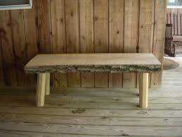Wood Bench Metal Legs Furniture U0026 Accessories Design Of The Wood Slab Benches Ideas