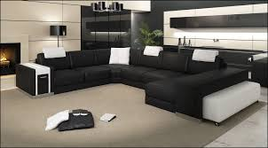 Leather Corner Sofa Beds Uk by Donato Leather Corner Sofa With Right Hand Chaise In Black White