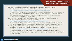 get an apa annotated bibliography template