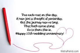 wedding quotes journey 25th anniversary messages