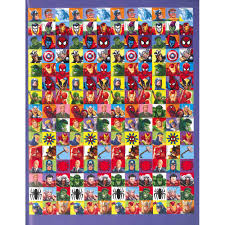marvel wrapping paper marvel heroes 1000 sticker book by parragon books sticker