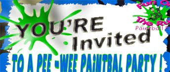 paintball birthday party invitations for fort worth paintball