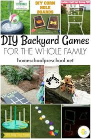 10 diy backyard games for the whole family family game night