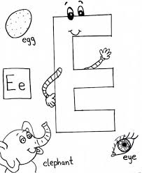 colouring letter e exercise alphabet coloring pages free words