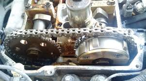mazda timing chain jumped probably bent a piston is my engine
