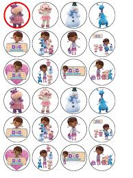 doc mcstuffin cake toppers 24 x doc mcstuffins wafer rice paper cup cake top toppers