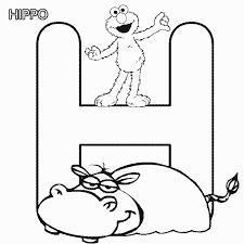 abc letter hippo sesame street elmo coloring elmo party