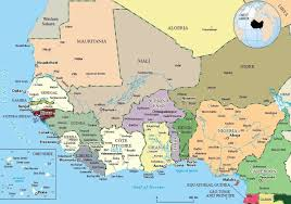 Africa Country Map West African Countries And Their Capitals Naij Com