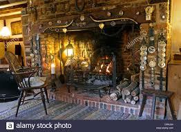 inglenook fireplace at sandhill farmhouse washington west sussex
