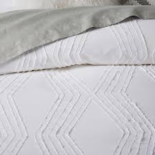 roar rabbit zigzag texture duvet cover shams white west elm