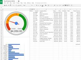 Accrual Spreadsheet Template How To Create A Dividend Tracker Spreadsheet Dividend Meter
