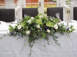 Table Flower Arrangements White Table Top Flower Arrangements The Top Table Arrangement Of