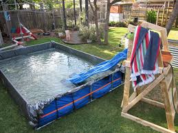 Backyard Birthday Ideas Man Builds Giant Paddling Pool In The Backyard