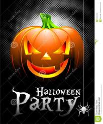 vector halloween party background with pumpkin stock photo