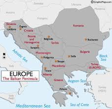 europe peninsulas map balkans states map and information page