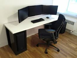 playroom gaming computer desk for multiple monitors diy