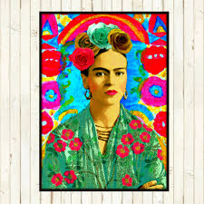 frida kahlo retro art print boho instant digital download