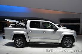 bugatti pickup truck side of the vw amarok dark label indian autos blog