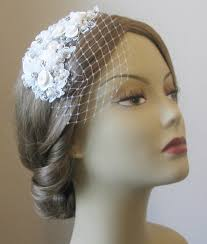 lace fascinator white lace fascinator with netting white bridal fascinator and