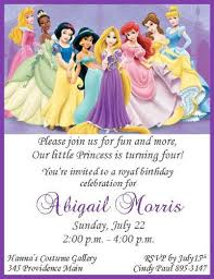 disney princess birthday party invitations free printables 12