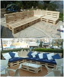 How To Make Patio Furniture Out Of Pallets by We Built This Outdoor Pallet Sectional Set Out Of 12 Pallets And