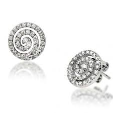 diamond earrings pave set diamond earrings 0 54 carat poppy diamond earrings