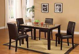 Where To Buy Dining Table And Chairs Amazon Com Roundhill Furniture Briden Dark Artificial Marble Top